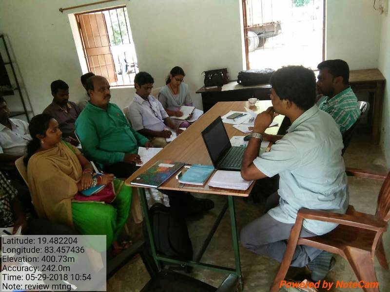 Monthly review meeting of FNGO staffs  MPA staffs held on today at DKDA-Chatikona meeting hall 01.jpe