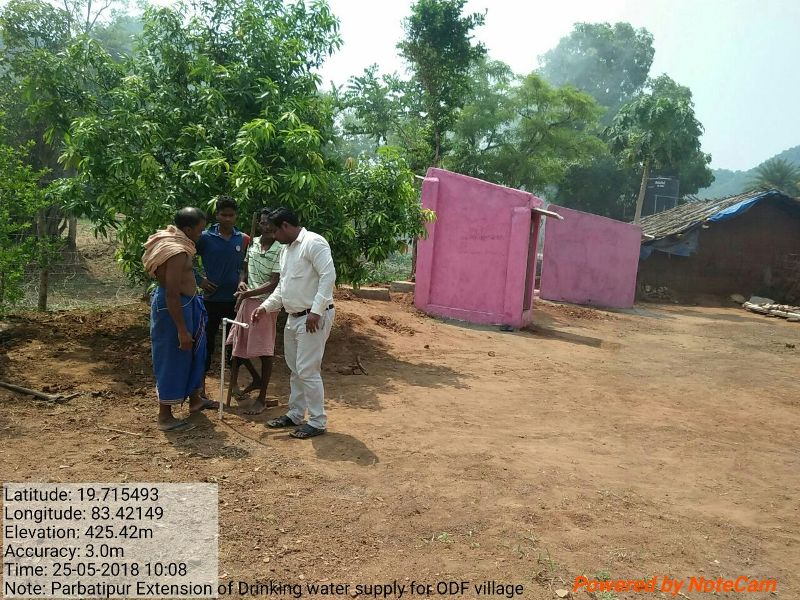 Drinking water supply extension to House in ODF village Parbatipur GP Batelima Lanjigarh 01.jpe