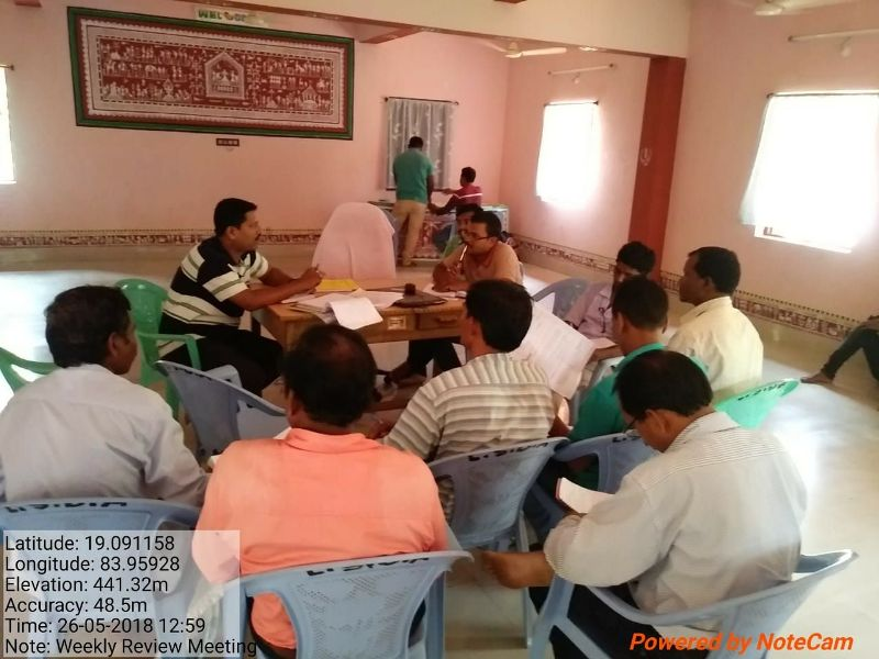 Weekly review meeting of LSDA Puttasing under the chairmanship of Special Officer 02.jpe