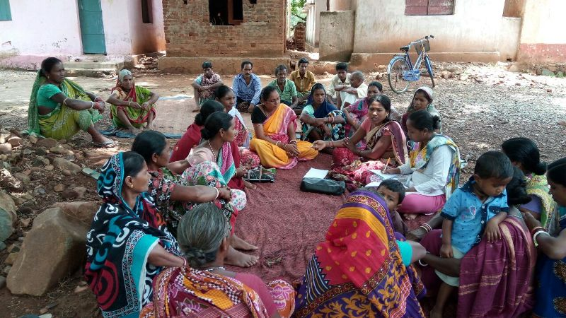 Planning meeting with SHG members at Haldikudar village by Social Mobiliser and CINO of FNGO PBDA Khuntagao.jpe