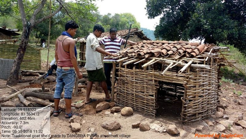 Traditional goat and pig shed made by Dangariya PVTGs of DKDA Parsali 01.jpe