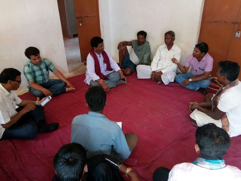 Discussion on about MGNREGS work with people and Sarpanch Sunabeda, CBDA Sunabeda 03.jpe