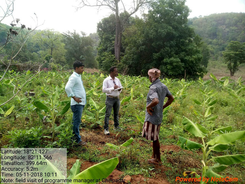 During field visits to Chitapari village meeting with SHG on promotion of Hill broom value addition, and interaction with banana farmer 14.jpe