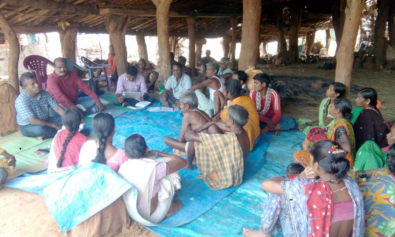 Village level meeting held  at Bhataguda village of Chanchadaguda  Gp to make the village ODF as well as model one-02.jpe
